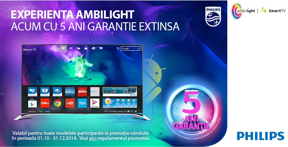 5 ani Garantie Extinsa la Televizoarele LED Philips