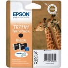 Epson Cartus T0711H Black Double Pack