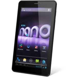 Allview Ax4 Nano, 7 inch MultiTouch, Cortex A7 Dual Core 1.3GHz, 512MB RAM, 4GB flash, Wi-Fi, Bluetooth, 3G, Android 4.2, Black