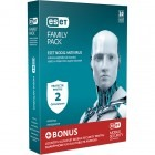 Securitate ESET NOD32 Antivirus v8, Family Pack, 2 PC, 1 an, New license, Retail + Mobile Security Android 1 an