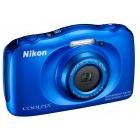 Nikon COOLPIX S33 Albastru + Card 8Gb