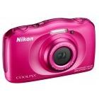 Nikon COOLPIX S33 Roz + Card 8Gb