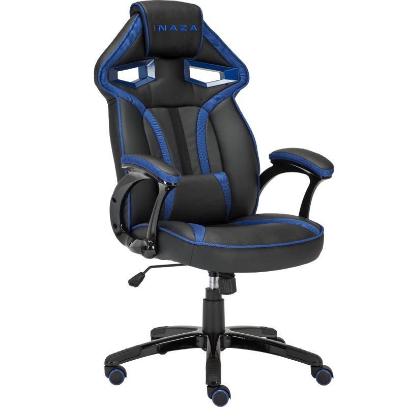Scaun gaming Inaza Cobra negru-albastru