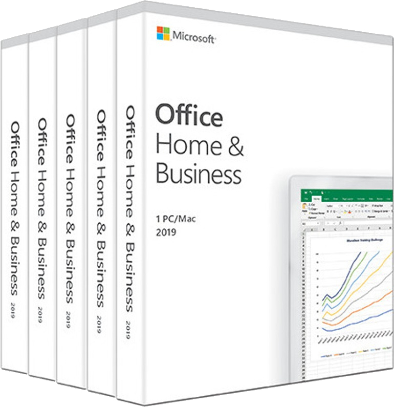 Aplicatie Microsoft Pachet special Microsoft Office Home and Business 2019-  5 licente Retail