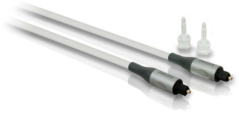 Cablu audio Philips SWA3302S S/PDIF Optic Male - S/PDIF Optic Male, 1.5m, argintiu