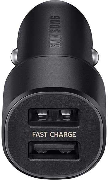 Incarcator auto GSM Samsung EP-L1100, 2x USB, 15W, Fast Charging, Black, cablu inclus