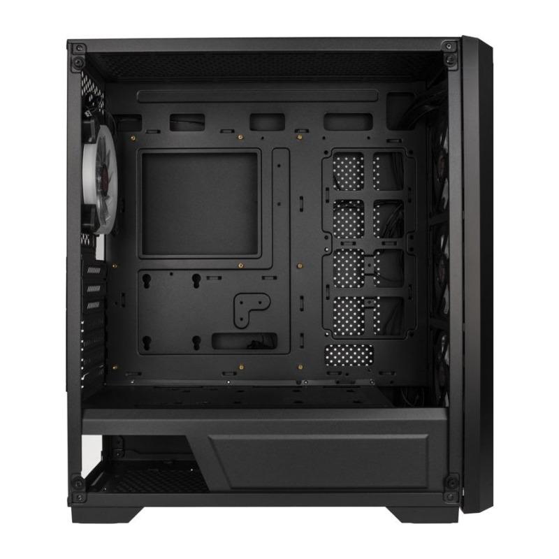 Carcasa Raijintek Ponos,mesh metalic, iluminare RGB, negru 4